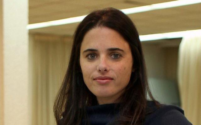 Ayelet Shaked (Crédit : Gidon Markowicz/Flash90)