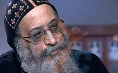 Bishop Tawadros, now Pope Tawadros II, in an October 2012 interview (photo credit: screen capture/Youtube)