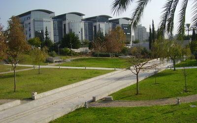 L'université Bar-Ilan. (Crédit : CC-BY Avishai Teicher/Wikimedia Commons)