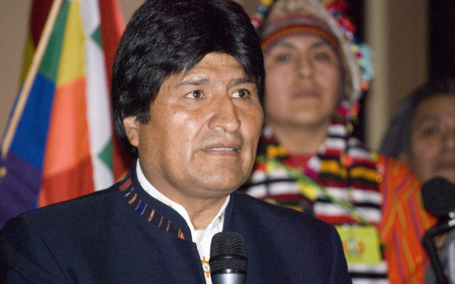 Evo Morales, le président bolivien. (Crédit : CC BY/Sebastian Baryli via Flickr.com)