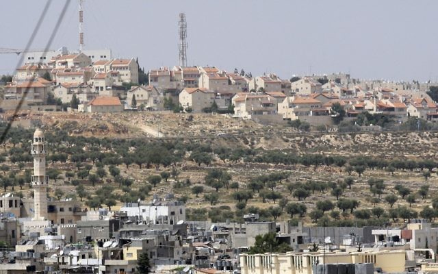 Gilo vu depuis Bethlehem. (Crédit : Yossi Zamir/Flash90)
