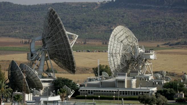 Illustrative photo of satellite dishes (photo credit: Nati Shohat/Flash90)