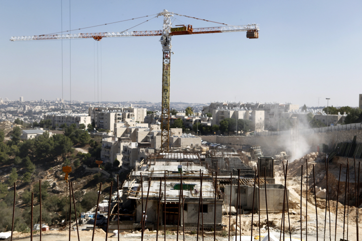 A building site in the Gilo neighborhood in south Jerusalem, October 2, 2011. (photo credit: Uri Lenz / Flash90.)