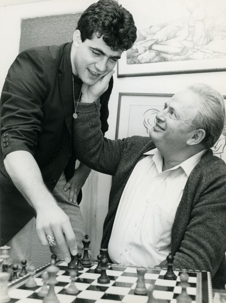 Lapid with his father Tommy in the 1980s. (photo credit: Moshe Sinai/Flash90)