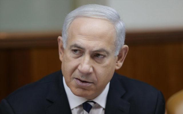 Le Premier Ministre israélien Benjamin Netanyahu (Crédit : Alex Kolomoisky/Flash90)