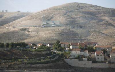 Vue sur Maaleh Adumim (Crédit : Yonatan Sindel/Flash90)