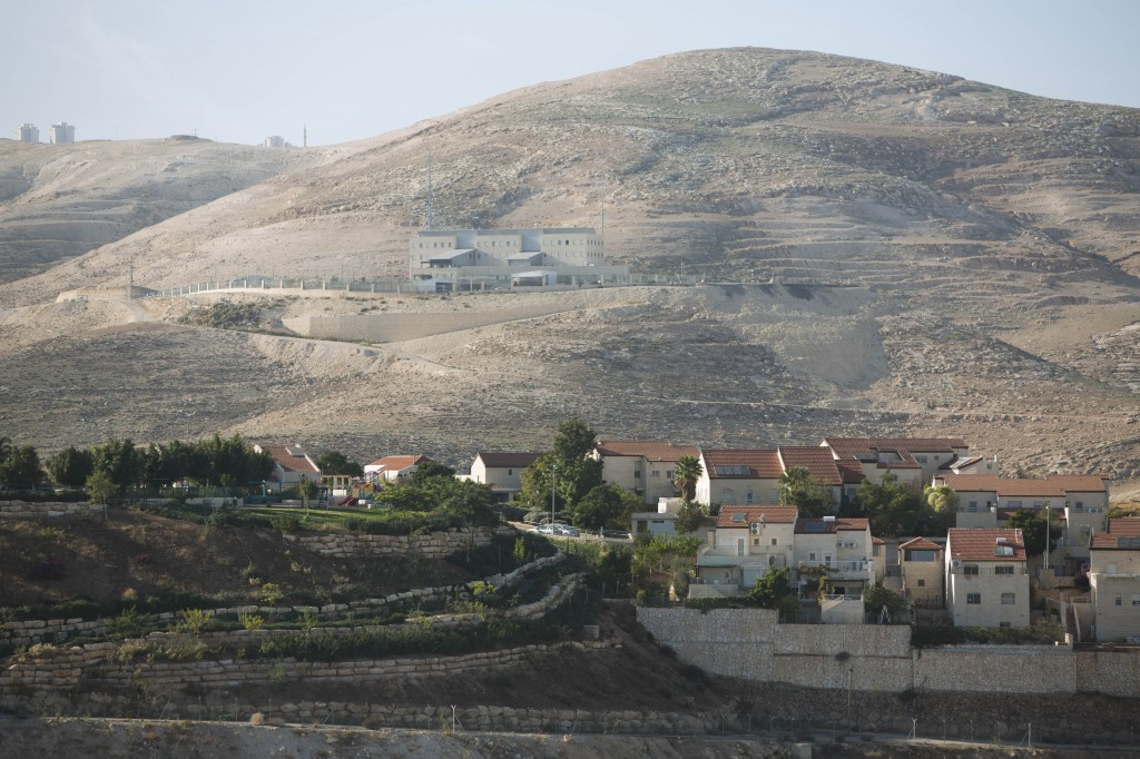 A view of the Jewish West Bank settlement of Ma'aleh Adumim, with the controversial E1 tract in the background (photo credit: Yonatan Sindel/Flash90)