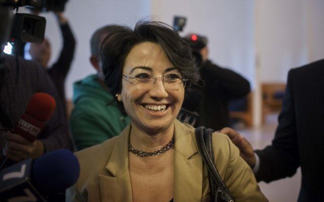 La députée arabe à la Knesset  (du parti Balad) Hanin Zoabi (Crédit : Flash90)