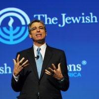 Le leader du mouvement réformé, le Rabbin Rick Jacobs (Crédit : Robert A. Cumins/JFNA via JTA)