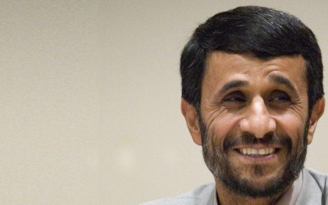 L'ancien président iranien Mahmoud Ahmadinejad. (Crédit : Mahmoud Ahmadinejad image via Shutterstock)