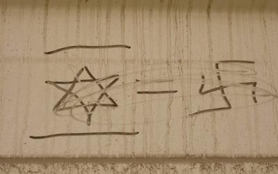 Anti-Semitic graffiti (illustrative photo: CC BY-zeeweez, Flickr)