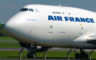Un avion de la compagnie Air France (Crédit : CC BY/Andy_Mitchell_UK via Flickr.com)
