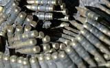 Photo illustrative de munitions (Crédit : Pierre Terdjman/Flash90)