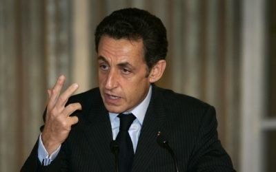 Nicolas Sarkozy (Crédit : Olivier Fitoussi /FLASH90)
