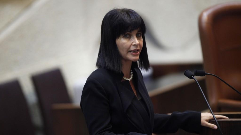Einat Wilf addresses the Knesset, October 15, 2012. (photo credit: Miriam Alster/Flash90)