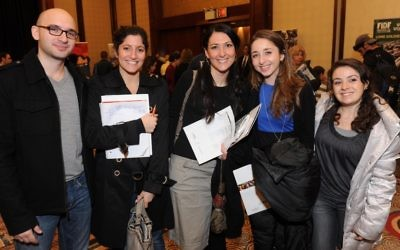 Attendees at the Aliyah Mega Event in NYC in 2012 (photo: Shahar Azran)