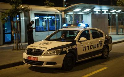 La police israélienne, en juin 2012. Illustration. (Crédit : Uri Lenz/Flash90)