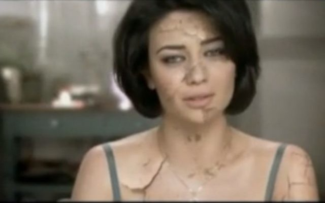 Ninet Tayeb in the no-longer-broadcast 'Israel is drying out' commercial (photo credit: YouTube screenshot)