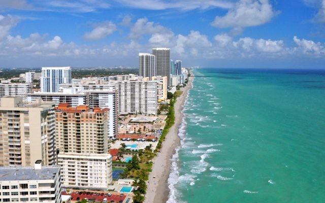 Aventura, Fla., une banlieue de Miami (Crédit : Shutterstock via JTA)