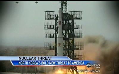 La Corée du Nord a testé avec succès une fusée à longue portée en décembre 2012  (Capture d'écran: Youtube / ABC News)