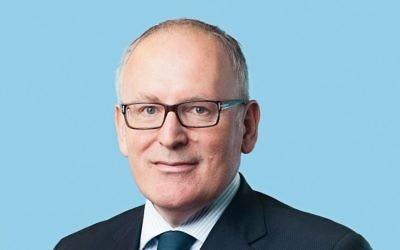 Le vice-président de la Commission européenne, Frans Timmermans (Crédit : CC BY-Partij van de Arbeid, Wikimedia Commons)