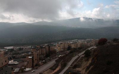 Vue sur Safed (Crédit : Alana Perino/Flash90)