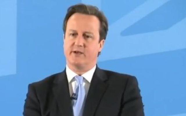 David Cameron (Crédit : capture d'écran Youtube/Channel4News)