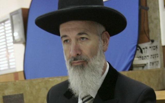 L'ancien grand rabbin ashkenaze d'Israël Yona Metzger (Crédit: Marko/Flash90)