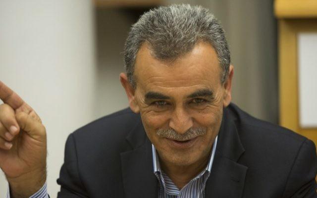 Le député Jamal Zahalka (Crédit : Yonatan Sindel/Flash90)