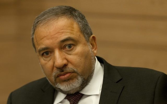 Avigdor Liberman (Crédit : Flash90)