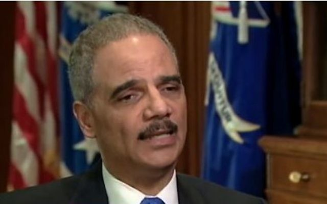 Le ministre américain de la Justice, Eric Holder. (Crédit : Capture d'écran Youtube/ABCNews)