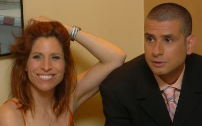 Orna Banai ( gauche) et  Eyal Kitzis d' 'Eretz Nehederet.' (Crédit: Flash90/file)