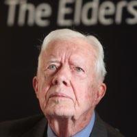 Jimmy Carter, 39e président des Etats-Unis (1971 - 1975). (Crédit : Yoav Ari Dudkevitch/Flash90)