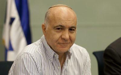 L'ancien directeur du Shin Bet, Yoram Cohen, à la Knesset, le 4 juin 2013. (Crédit : Flash 90)