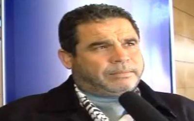 Salah Bardawil, porte-parole du Hamas . (Crédit : capture d'écran YouTube)