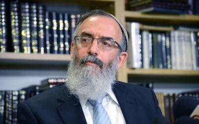 Le Rabbin David Stav (Crédit: Yossi Zeliger/Flash90)