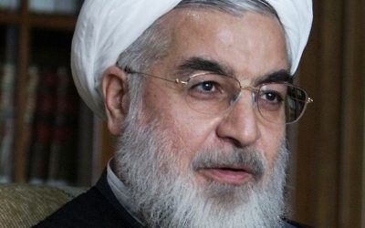 Hassan Rouhani (Crédit : Mojtaba Salimi/Wikipedia Commons)
