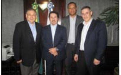 De gauche à droite : Shimon Samuels, Zaqueu Teixeira, Bernard Brito et Sergio Widder (Crédit : Autorisation du Simon Wiesenthal Center)