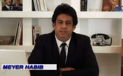 Meyer Habib, député des Français de l'étranger. (Crédit : capture d'écran YouTube/Meyer Habib)