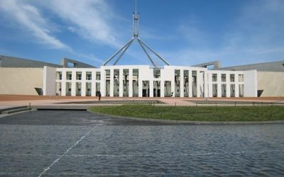 Le Parlement à Canberra, Australie (photo credit: Wikimedia Commons/ Mark Pegrum CC BY-SA)
