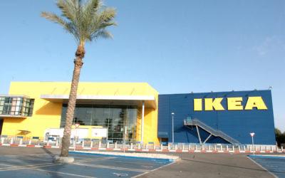 Le magasin IKEA de Netanya, en 2007 (Crédit : Hagit Rabinowitz/Flash90)