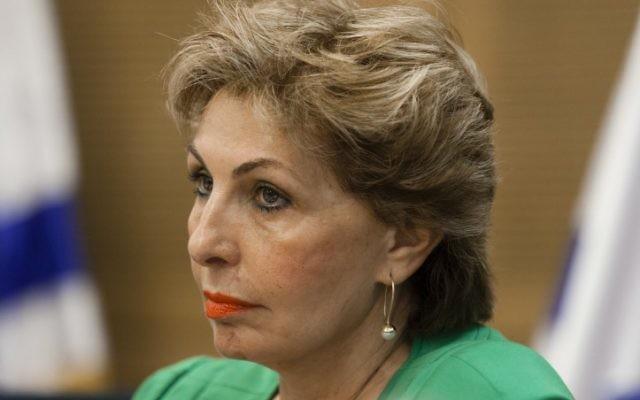 Sofa Landver, ministre de l'Immigration et de l'Intégration, en juin 2013. (Crédit : Flash90)