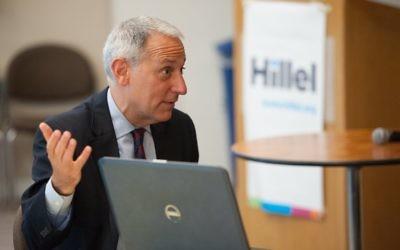 Eric Fingerhut, président d'Hillel International. (Crédit : autorisation)