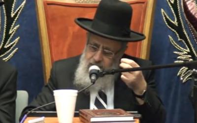 Yitzhak Yosef (Crédit : capture d'écran YouTube)