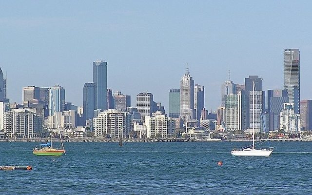 Melbourne, Australie. Illustration. (Crédit : Wikimedia Commons/Donaldytong/File)