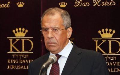 Sergueï Lavrov, ministre russe des Affaires étrangères, en juin 2010. (Crédit : Miriam Alster/Flash90)