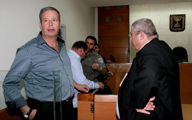 Le maire de Nazareth Illit, Shimon Gapso, devant la cour en 2010. (Crédit : Gideon Markowicz/Flash90)