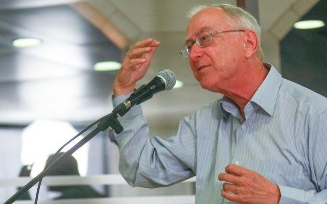 Le Professeur Asa Kasher (Crédit : Oren Nahshon/Flash90)