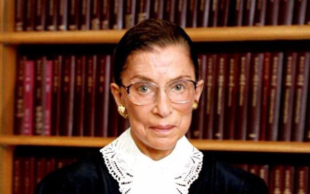 La juge de la Cour suprême américaine Ruth Bader Ginsburg (Crédit : Autorisation du gouvernement américain)