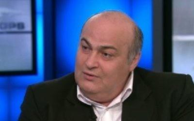 Siamak Moreh Sedgh, député juif iranien, sur CNN, le 29 septembre 2013. (Crédit : capture d'écran CNN)